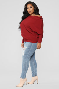 Karly Sweater - Burgundy
