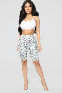 Pay Day Biker Shorts - White/combo