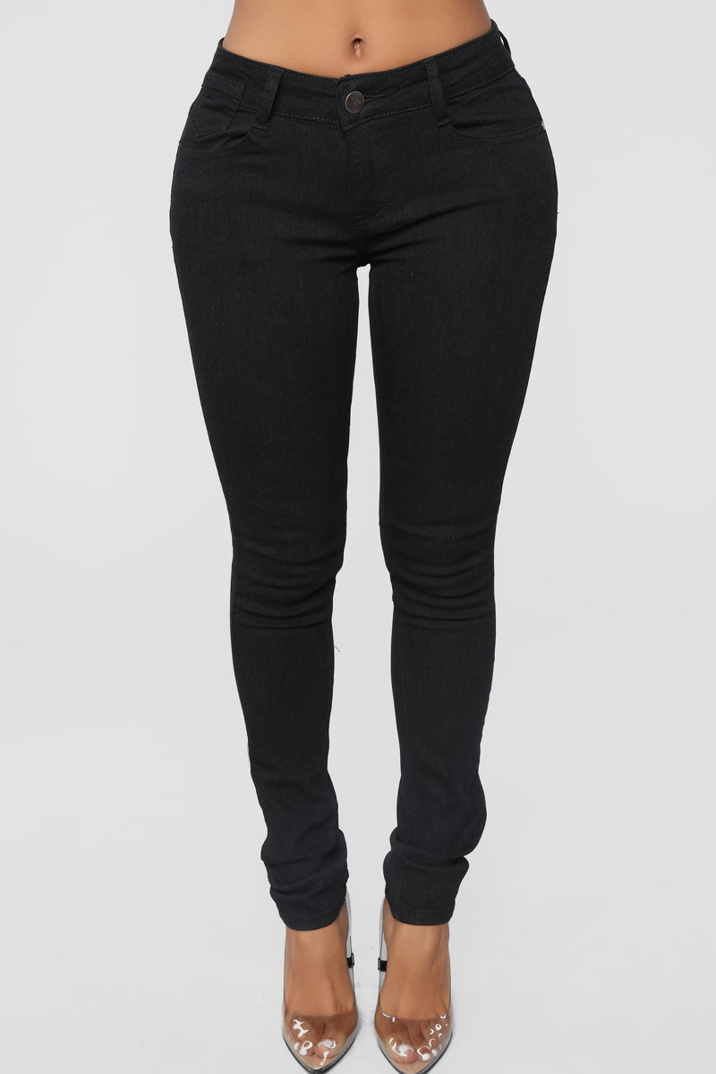 Explanation Needed Skinny Jeans - Black