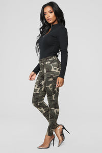 March To The Beat Ponte Pants - Camo