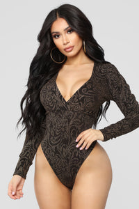 Already Famous Bodysuit - Gold/Combo