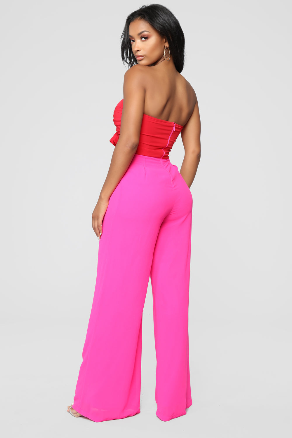 High Fashion Jumpsuit - Pink/Red