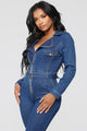 Got Me Feelin' Good Jumpsuit - Medium Wash