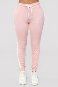 Elina Contrast Side Leggings - Mauve/combo