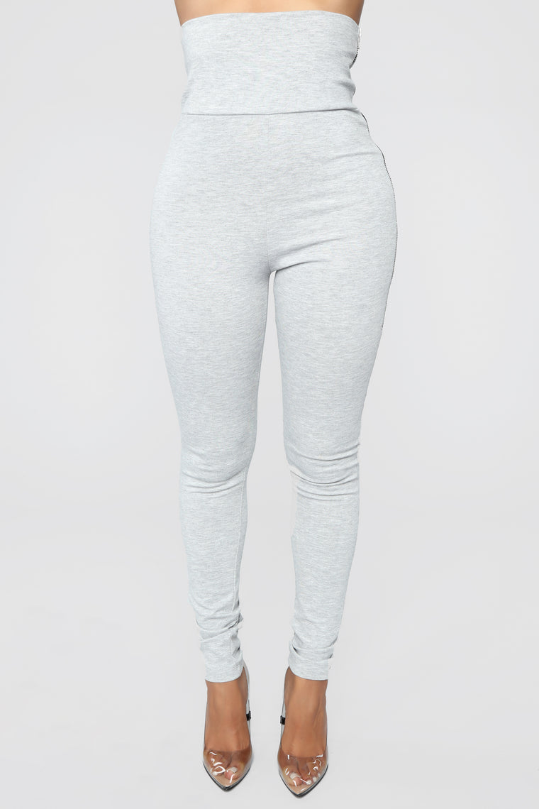 Above And Beyond High Rise Leggings - Grey