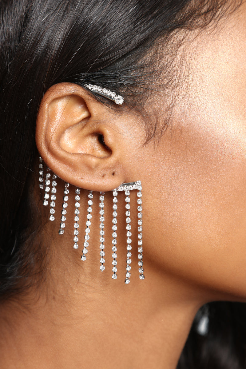 I'm All Eyes And Ear Cuff - Silver
