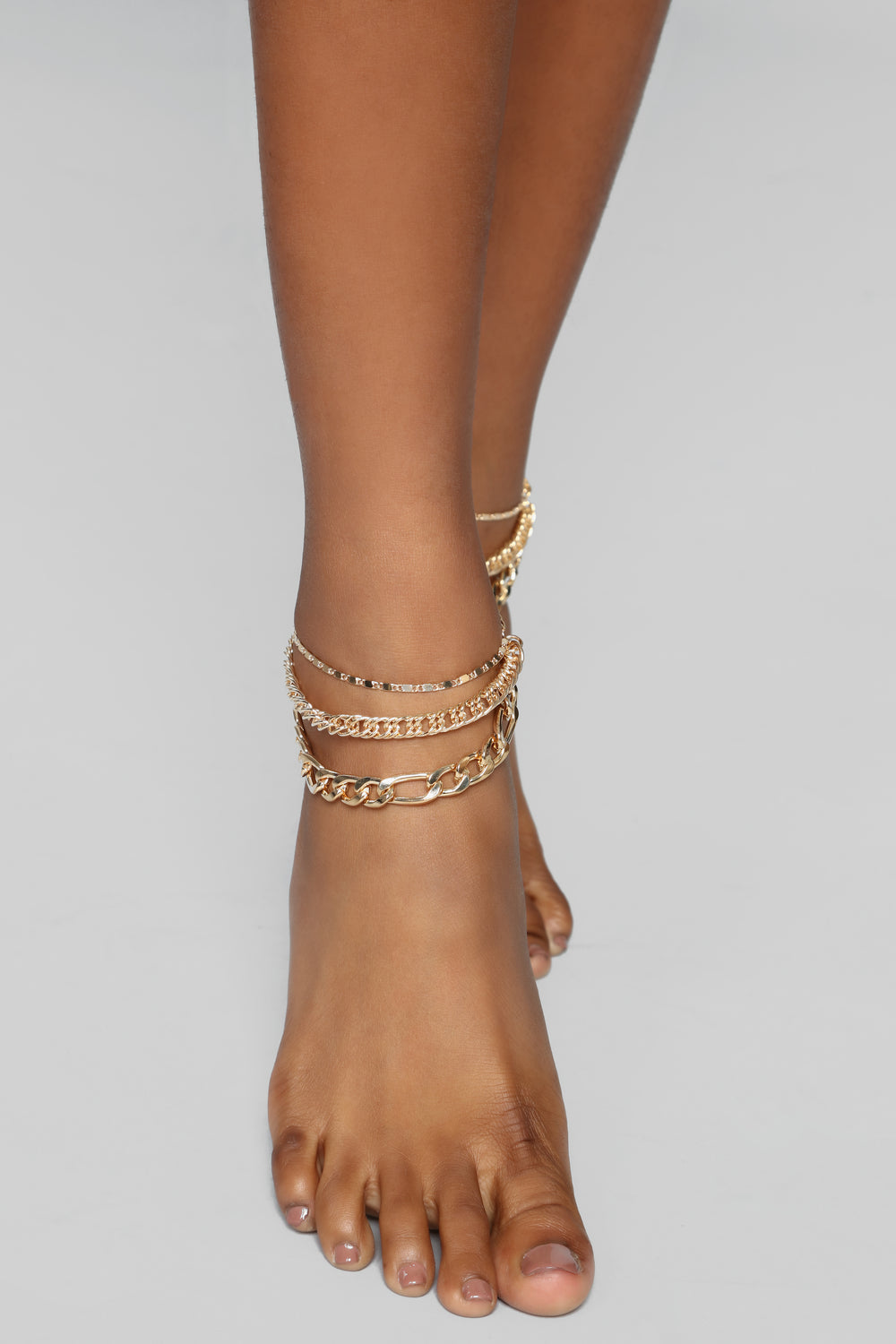 Into The Layer Anklet - Gold