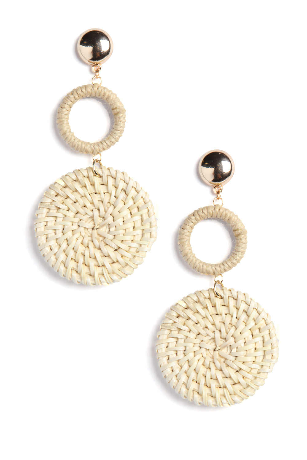 Hay There Straw Earrings - Natural