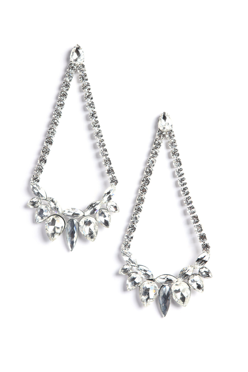 Shining Glance Earrings - Silver