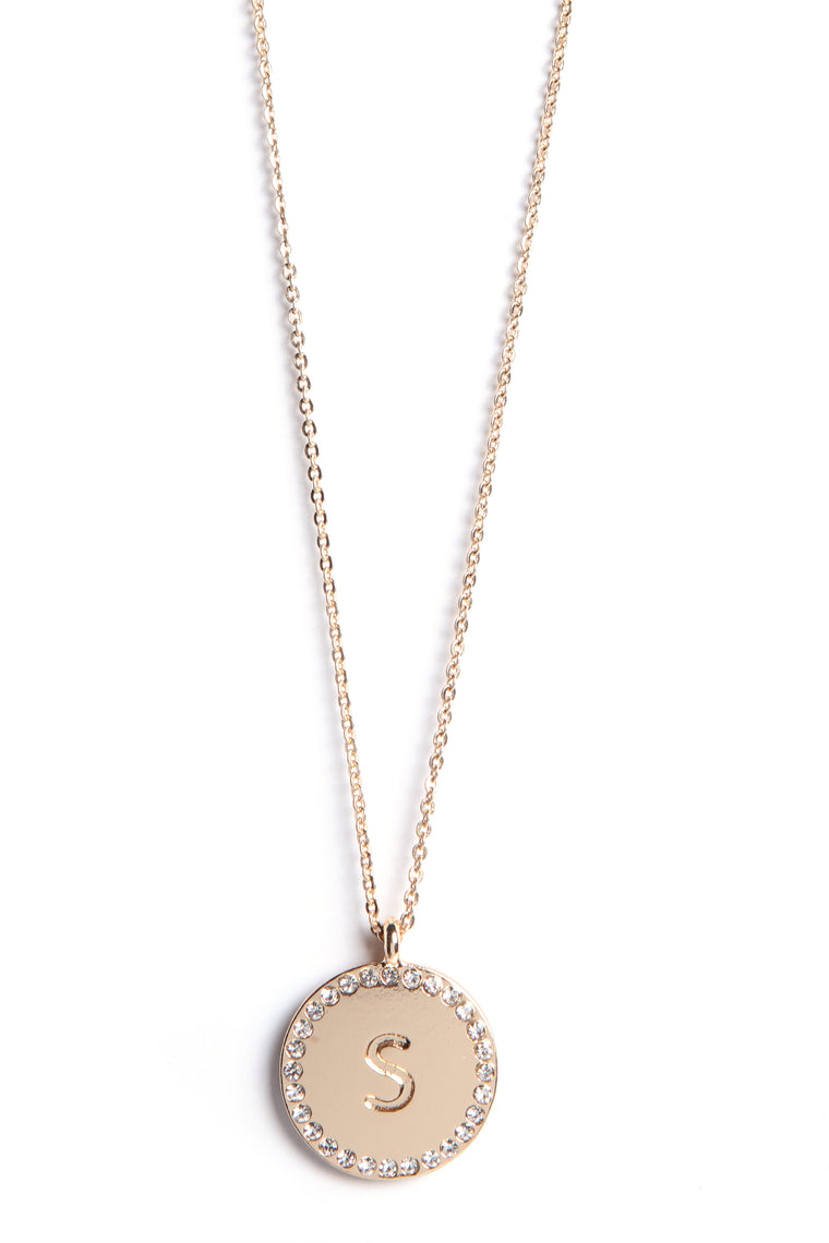 "Unwritten ""S"" Necklace - Gold"