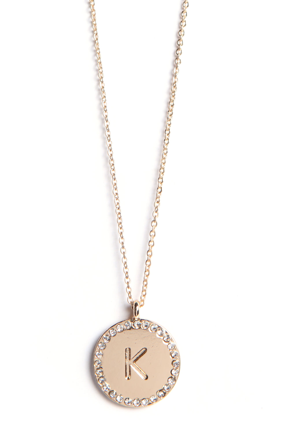 "Unwritten ""K"" Necklace - Gold"