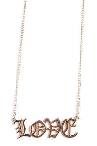 Let's Talk About Love Necklace - Gold