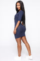 Saraiah Mini Dress - Navy