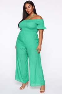 Lucky In Love Palazzo Jumpsuit - Green