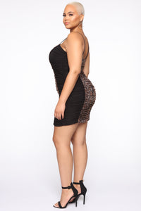 First Instinct Snake Ruched Dress - Black/combo Angle 8