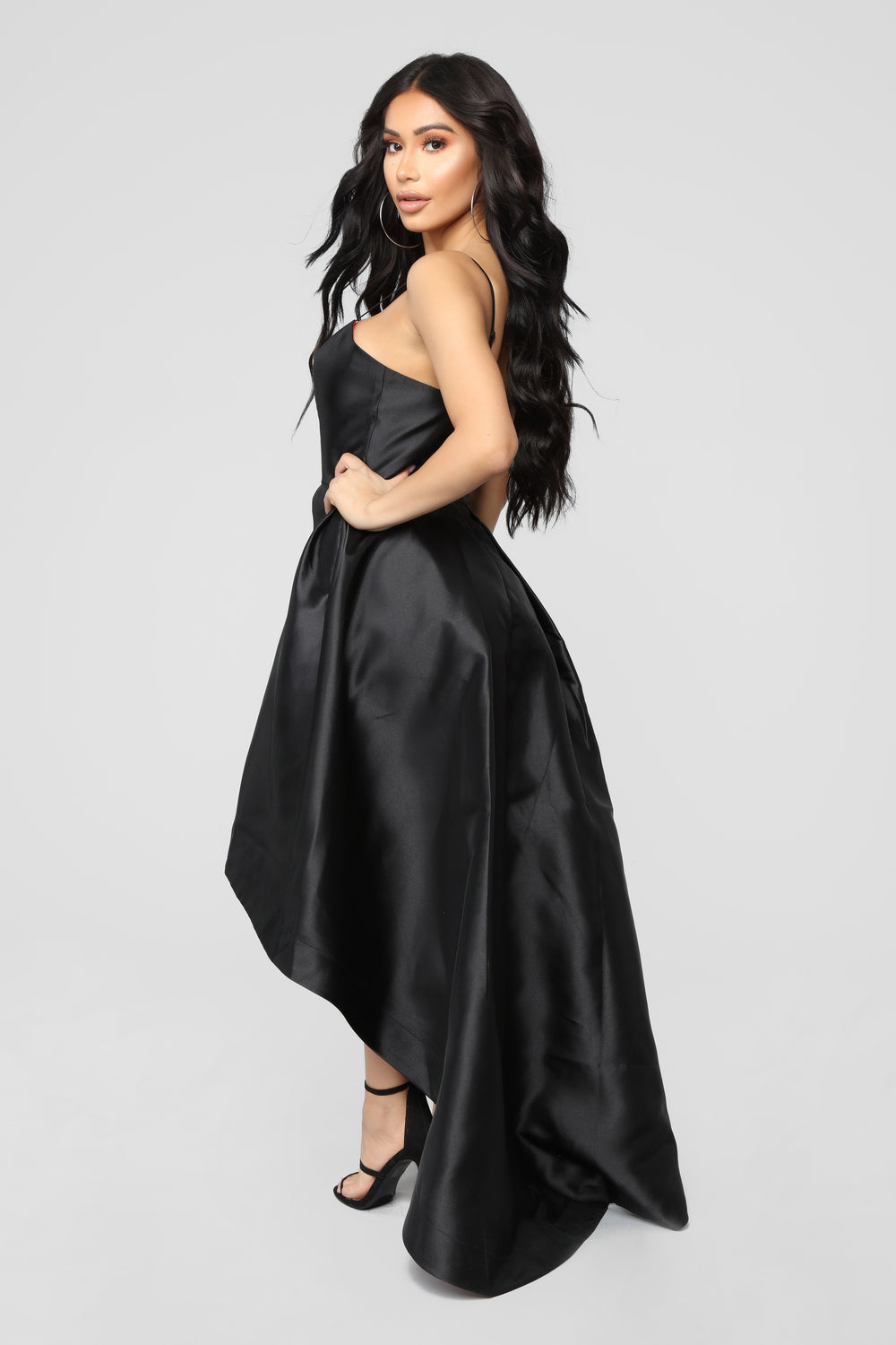 High Hopes High Low Dress - Black/Red