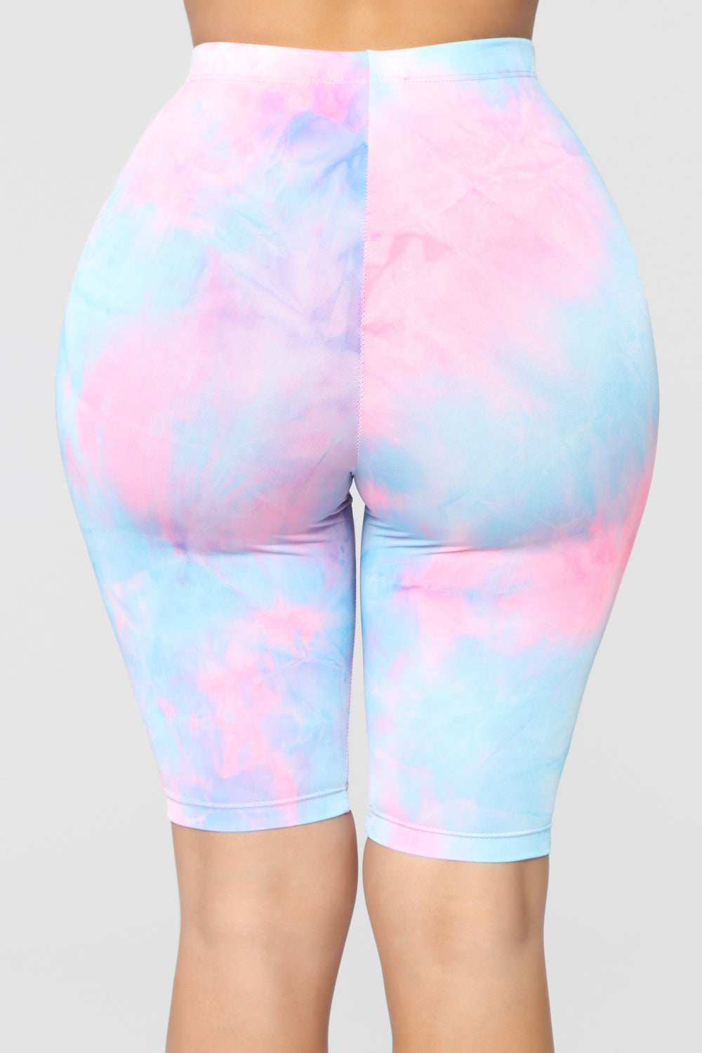 Tie My Dye Biker Shorts - Pink/Blue