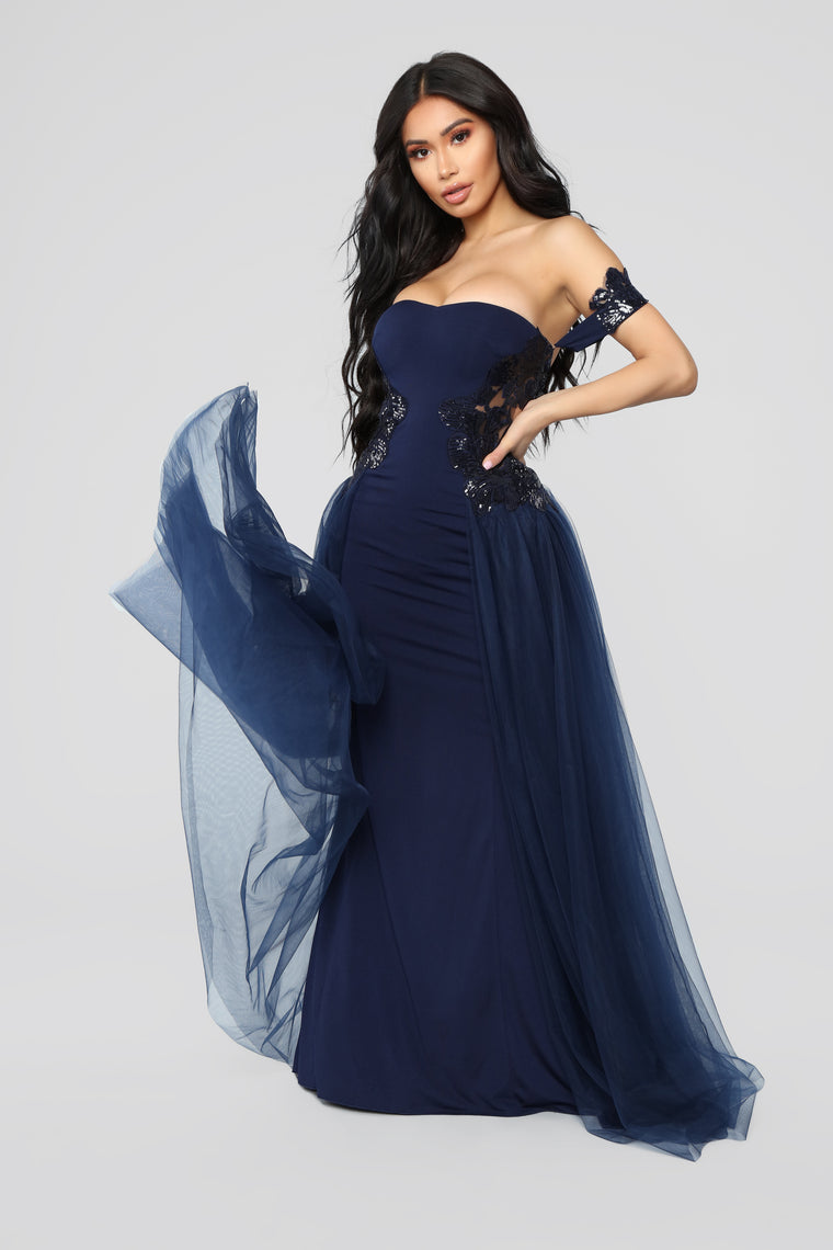 Extravaganza Tulle Dress - Navy