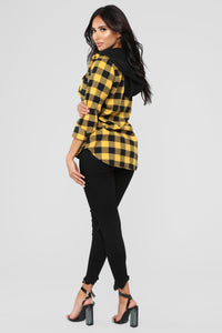 Doing Work Flannel Top - Yellow/Black