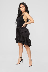 Lola Ruffle Skirt - Black
