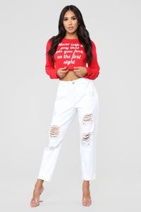 Life Motto Tee - Red