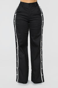 Snap To The Top Pants - Black/Grey Angle 2