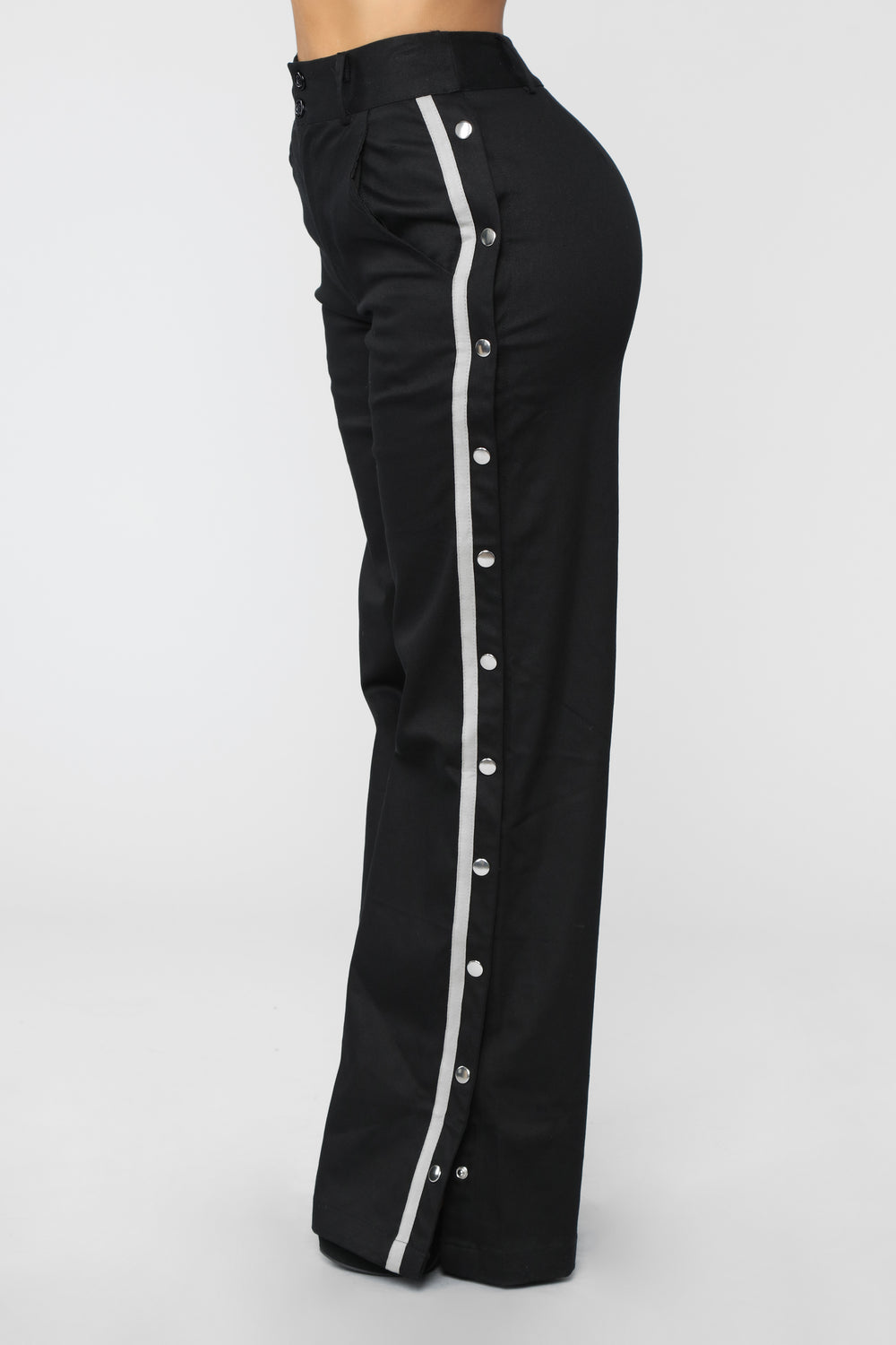 Snap To The Top Pants - Black/Grey