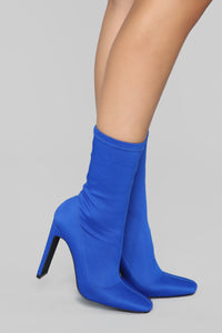 Can You Say Sleek Bootie - Cobalt