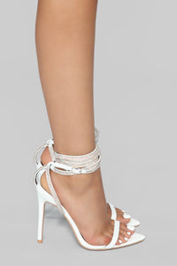 All About That Sass Heeled Sandal - White Angle 4