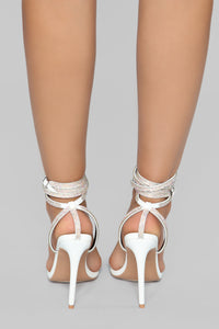 All About That Sass Heeled Sandal - White Angle 5