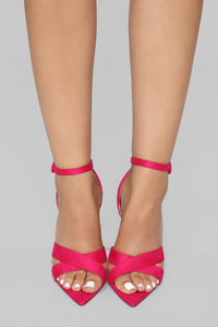 Trying To Socialize Heeled Sandal - Magenta