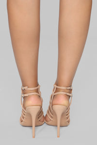 Not That Obvious Heeled Sandal - Nude