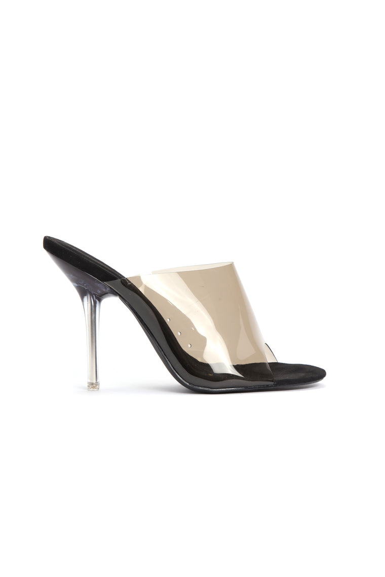 Stop Killing My Vibe Heeled Sandal - Smoke