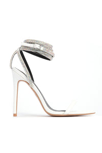All About That Sass Heeled Sandal - White Angle 2
