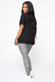 Not Interested Tunic Top - Black