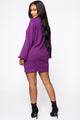 Feeling Salty Sweater Mini Dress - Purple