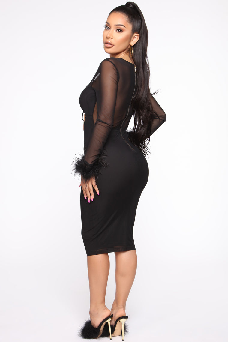 Take My Autograph Midi Dress - Black