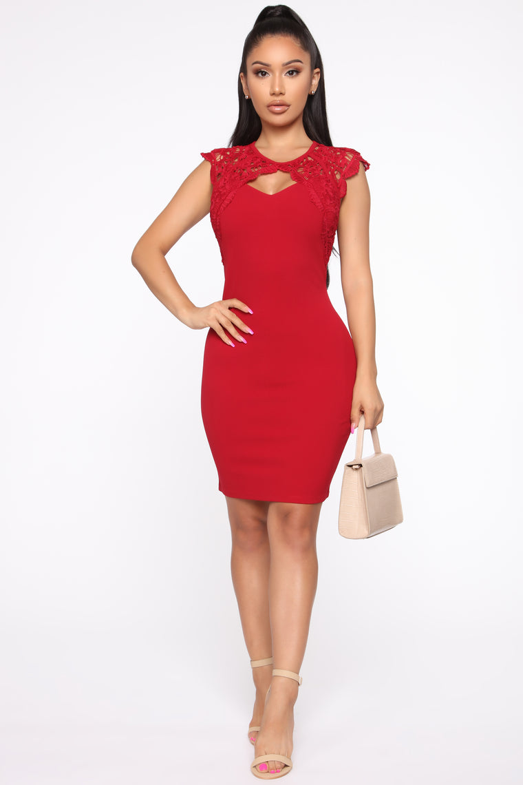 605ccbc4216 Almost Yours Midi Dress - Red