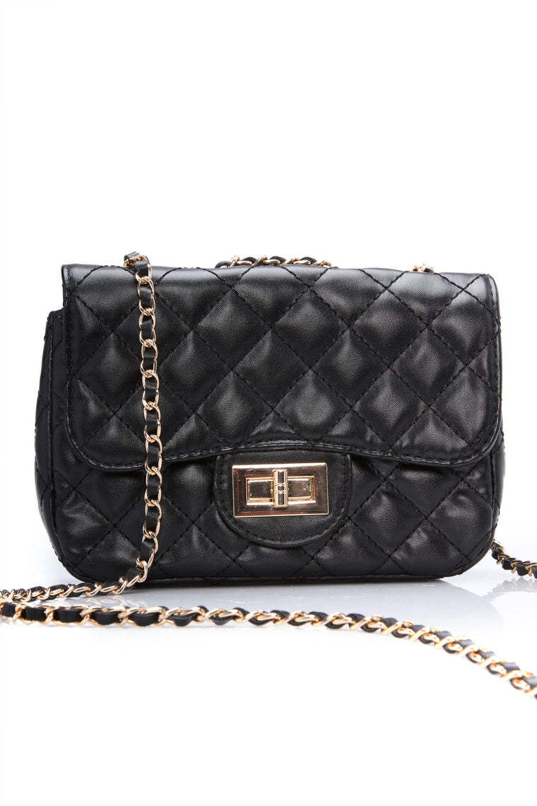 Always Around Quilted Bag   Black by Fashion Nova