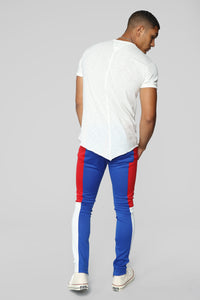 Elevated Track Pants - Blue/combo Angle 5
