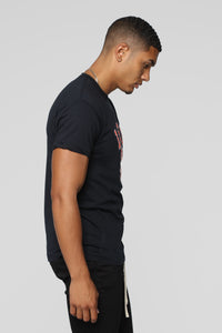 Collegiate Short Sleeve Tee - Black