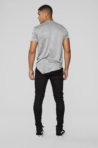 Rugged Short Sleeve Tee - Heather Grey