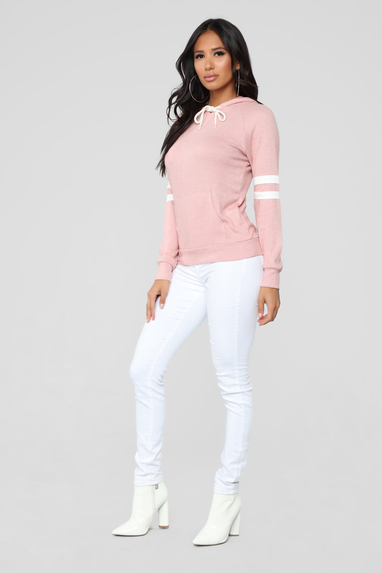 Elina Pullover Hoodie - Mauve/combo
