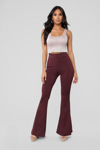 Disco Nights Pants - Burgundy
