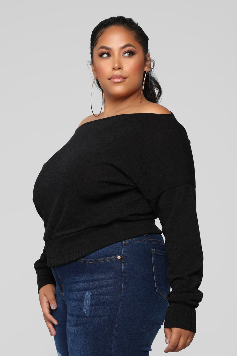 Staying In For The Night Sweater - Black
