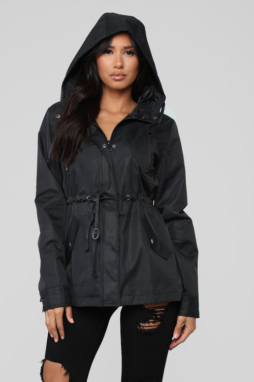 No Time To Waste Hooded Jacket - Black