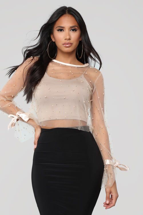 Now That We Found Love Top - Nude