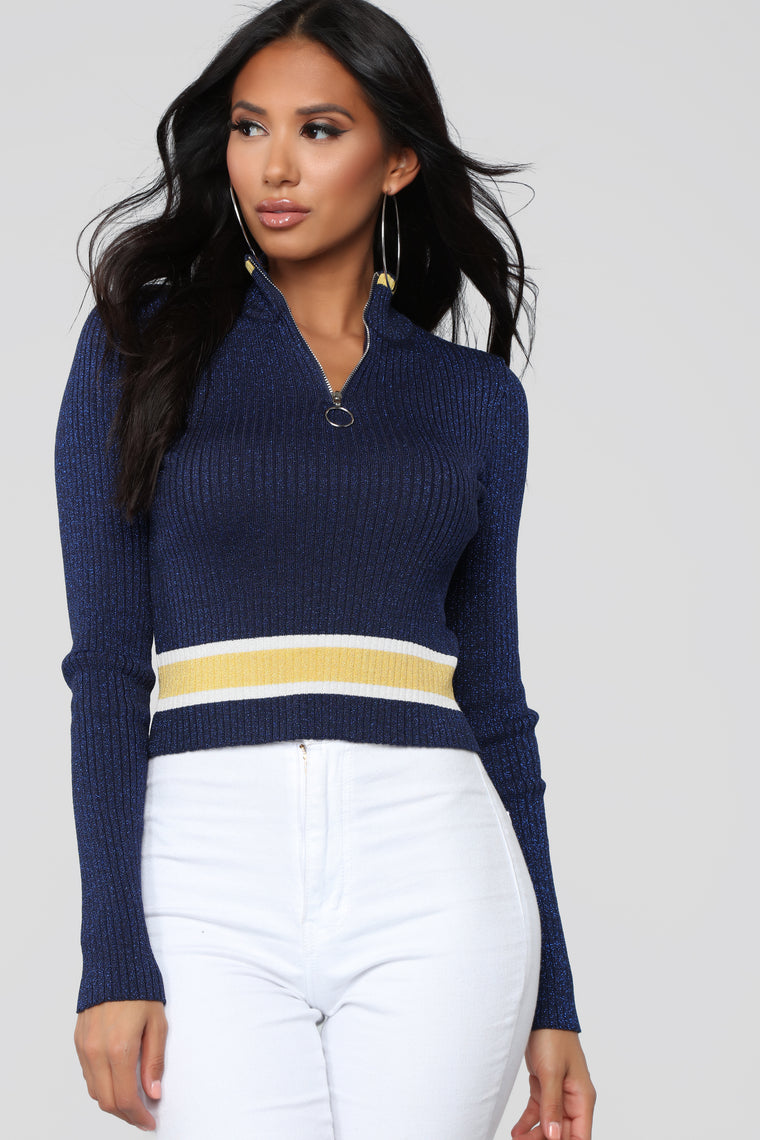Now Or Never Sweater - Blue/combo