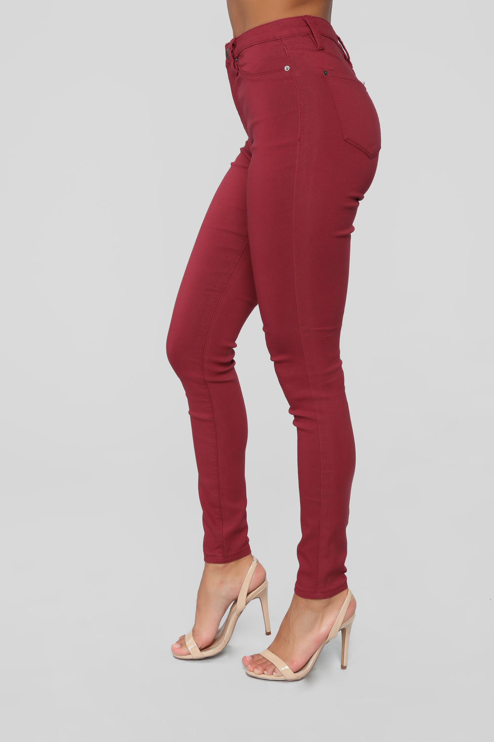 In It To Win It Tummy Control Pants - Red