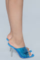 Stop Killing My Vibe Heeled Sandal - Blue